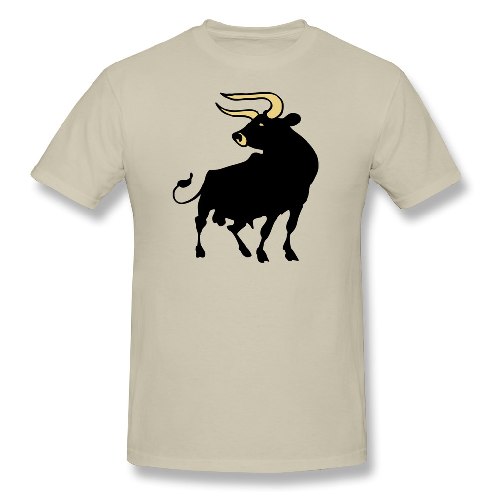 Design 100% Cotton Mens T Shirt Aurochs Funny Logo T ...