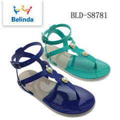 wholesale summer fancy flat beach sandal for woman