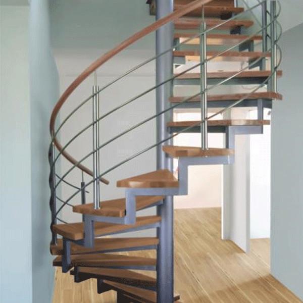 madera peldao escalera para espacios pequeos de acero inoxidable barandilla