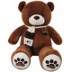 D582 Teddy Bear XXXL Size 160cm Kids Soft Plush Teddies Big Large Giant Child Toys Dolls Brown Plush Bear 160cm