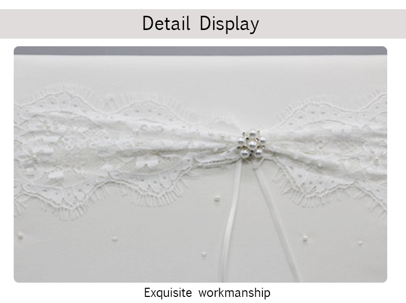 M3644 Wholesale Wedding Guest Book with Beautiful Artificial Flowers