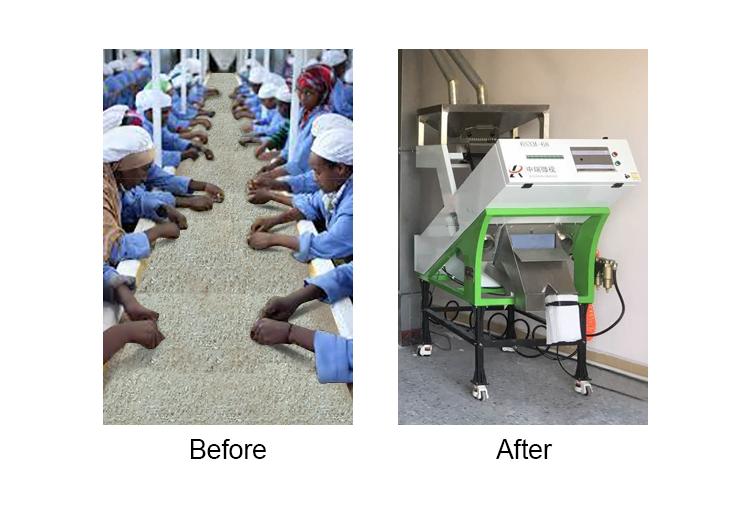 स्वचालित मिनी Parboiled चावल प्रसंस्करण संयंत्र चावल रंग सॉर्टर मशीन चावल मिल के लिए