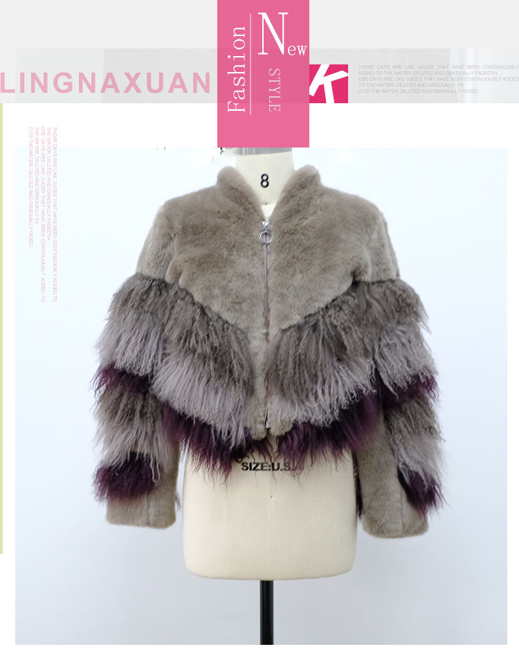 Fashion Real Fur Coat Women fancy fur coat