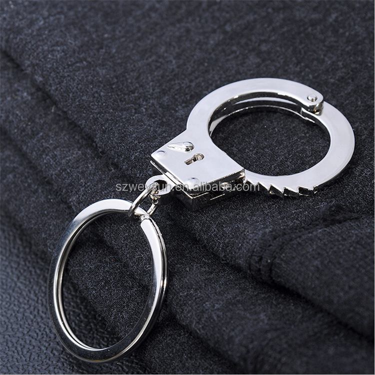 Metal Adjustable Creative Handcuffs keyring <strong>keys</strong> for men stainless steel