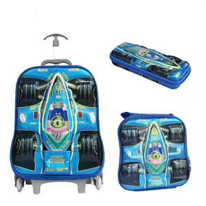 Kids three pcs set cheap price good quality luggage travel suitcase