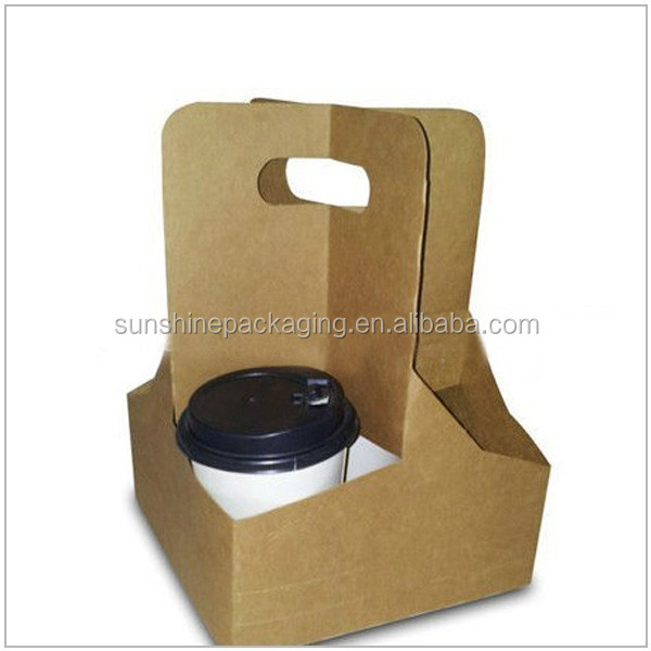 Corrugated Take Away With Handle Cup Carrier Tray Product On Alibaba