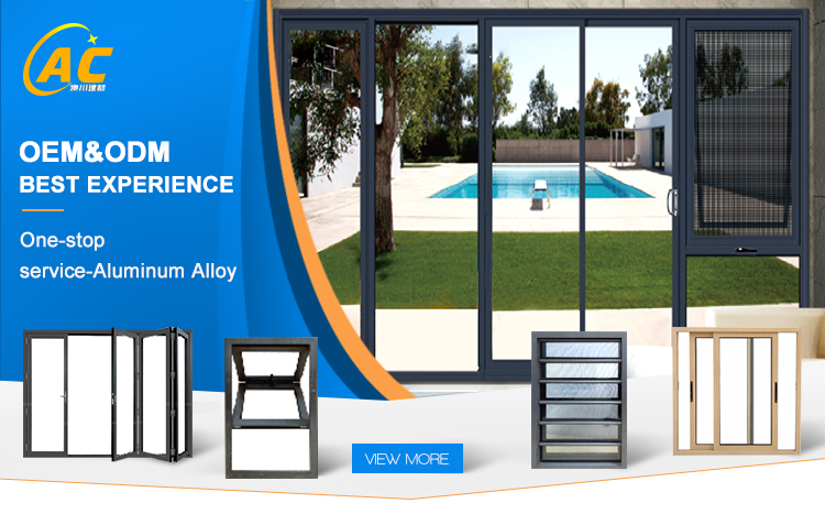 House aluminium toughened glass window frames with louver panel