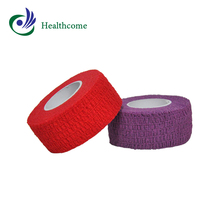 CE / FDA approved latex free adhesive colored coban cohesive bandage