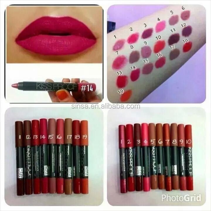 water proof menow / M.N kissproof lip pencil 19 colors available