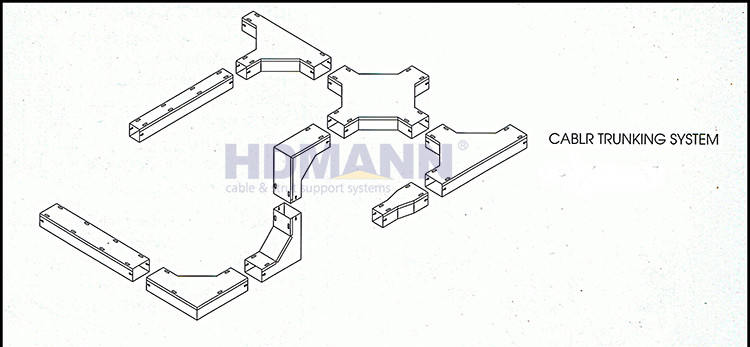 stainless steel metal cable trunking tray wire ducts factory
