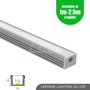 Home cabinet aluminium led lighting channel profile with PC shade