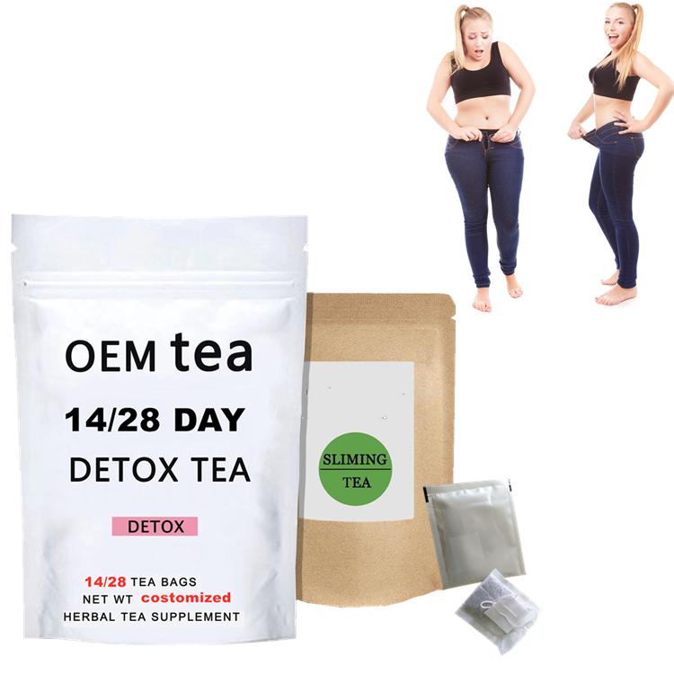 Private label 14 Days Skinny Teatox 28 Days Detox Flat Tummy Tea Herbal Slimming Tea for Body Belly Fat Reducing - 4uTea | 4uTea.com