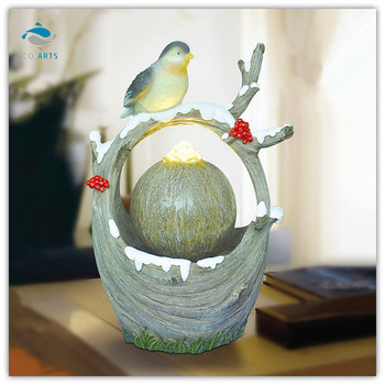 Decorative Items For Living Room A Bird On The Branch Water Ball Fountain Home Decoration