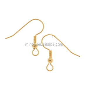 Wholesale Stainless Steel Jewelry Findings, 22k Gold Plated Surgical Steel Earring Hooks,hypo-allergenic