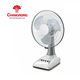 "14"" solar powered portable indoor ABS rechargeable cordless desk fan"