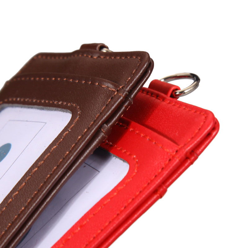 High-grade Pu Card Holder Staff Identification Card Neck Strap With Lanyard Badge Neck Strap Bus Id Holders Back To Search Resultsoffice & School Supplies Badge Holder & Accessories
