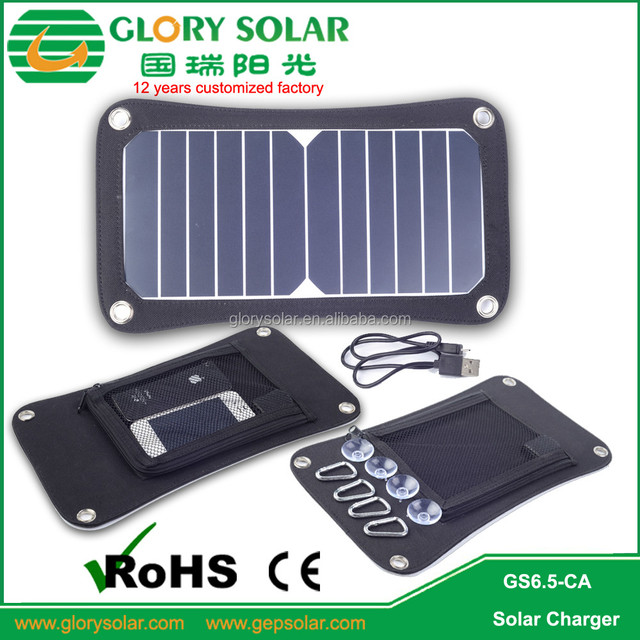 6.5W 13W Portable Foldable USB Port Solar Panel Charger SunPower Cell Semi-Flexible for any phone Australia