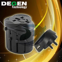 New 2017 universal travel adapter with usb port with AU US UK EU Plug