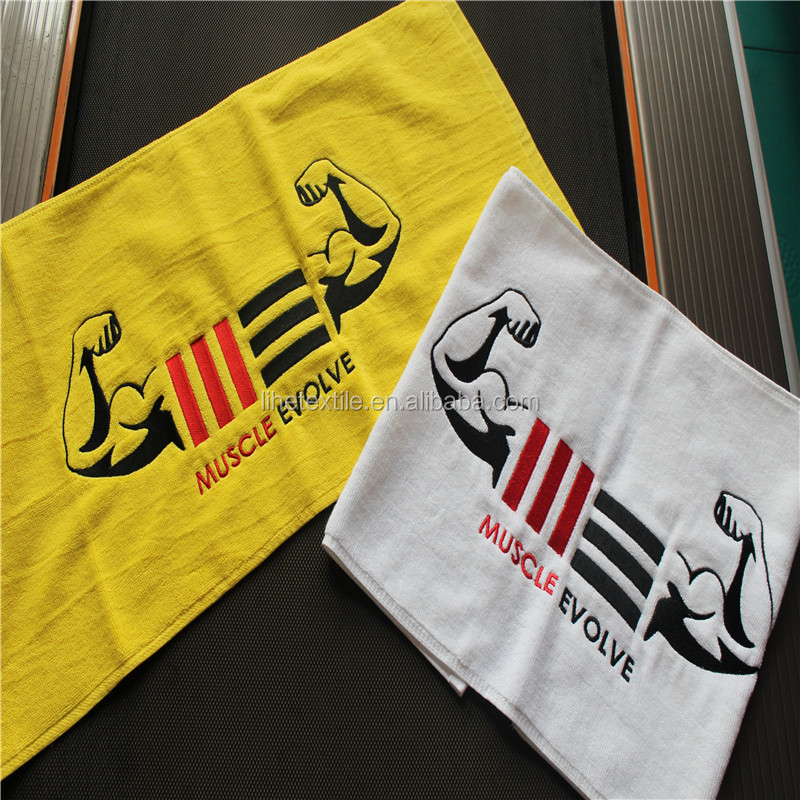100% Cotton Custom Gym/Sports/Fitness Towel With Embroidery Logo