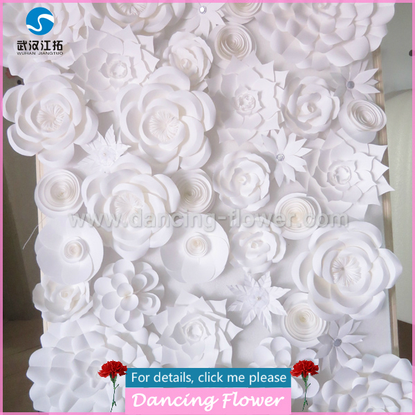 White giant paper wall flower for wedding decoration buy giant white giant paper wall flower for wedding decoration mightylinksfo