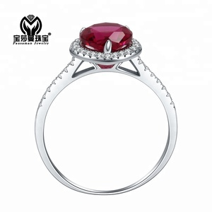 PSM Luxurious 925 sterling silver Red Coral Garnet Engagement Rings for Events & party woman