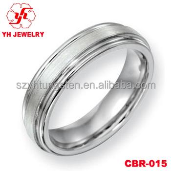 Unisex Tungsten Ring Hardness Cobalt Chrome Wedding Band Arabic