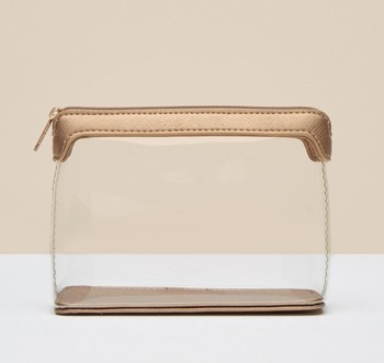 Makeup clear pvc cosmetic bag for women