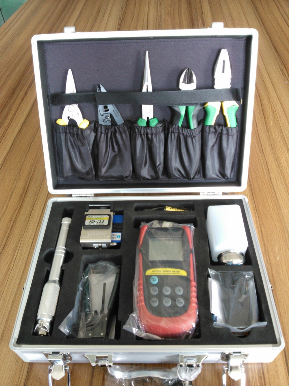 Fiber Optical Engineering Tool Kit Optical Power Meter Visual Fault Locator Strippers Fiber Cleaver Accessories