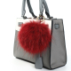 Manufacturers sell 13cm raccoon fur pendant ladies handbag charm pendant