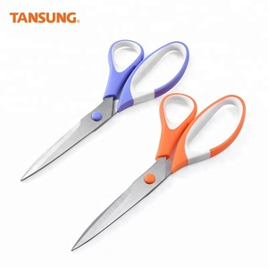 Household Cutting Papers Scissors Office Stainless Steel Scissors with Plastic Handle