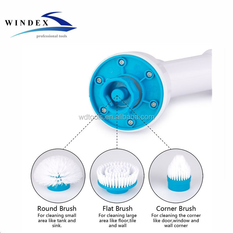 High quality Spin scrubber cleaning brush/360 Spin Cordless Power Scrubber with Cleaning Kit for home