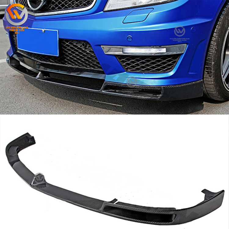 Year 2012-2014 V Style Carbon Fiber Front Lip For W204 C63 Amg Front Bumper  - Buy Carbon Fiber Front Lip W204 C63,W204 C63 Front Bumper V Style,W204