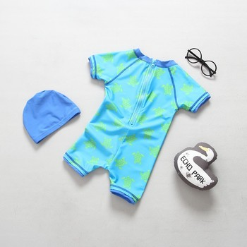 dde8f064ab217 Kids bathing suit one piece with cute animal kids boy shorts suit boy swim  children swimwear