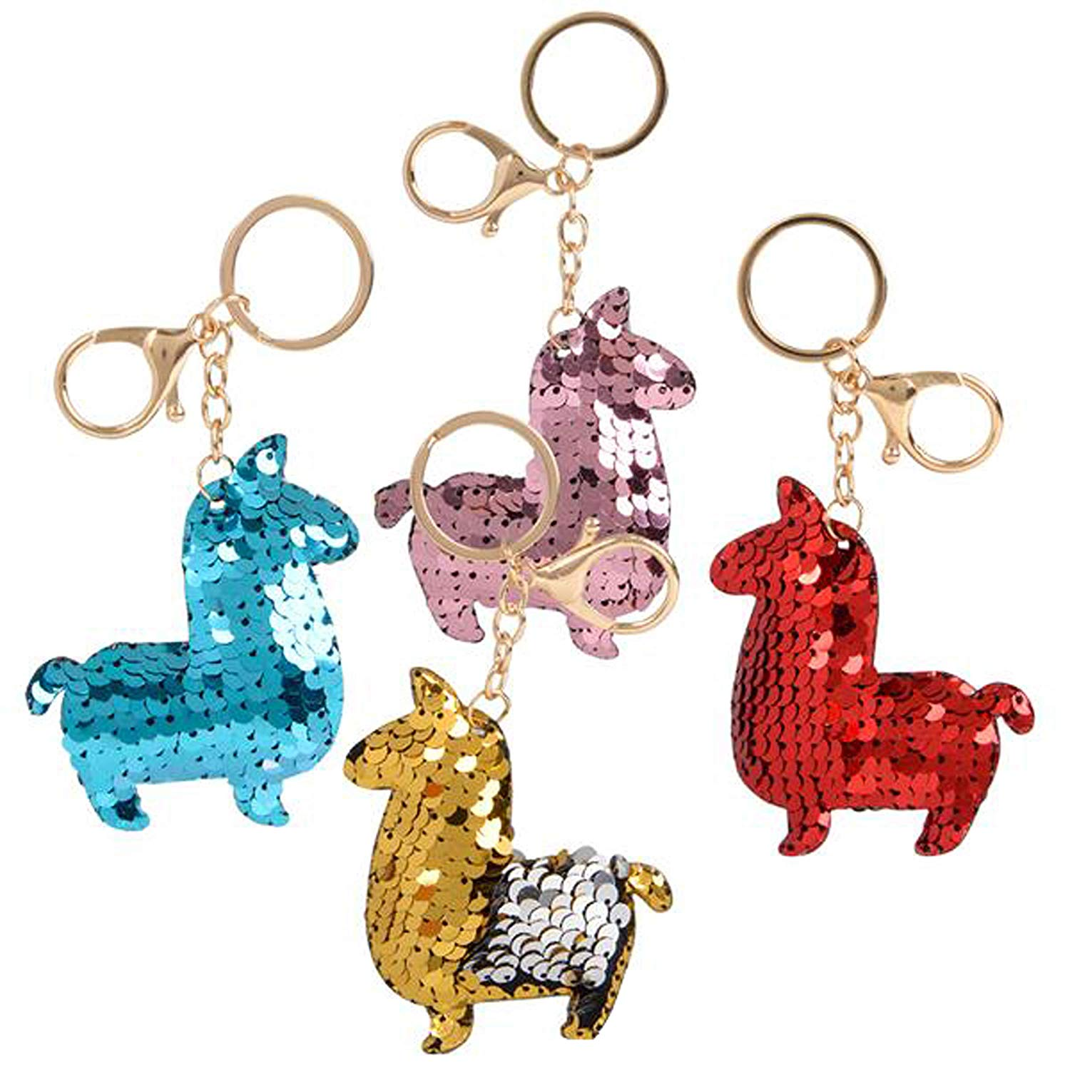Flip Mermaid Sequin Alpaca Keychain Party Favors Party Supplies (12 pack)