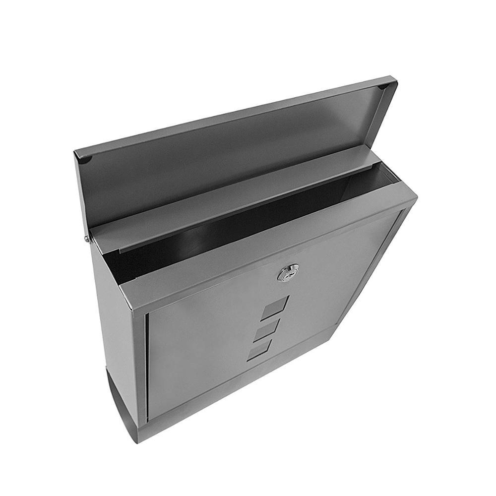 Оптовая продажа из Китая Белый Открытый настенный кронштейн для телевизора Настенный мини висит небольшой дом Панч металлической перфорации формы почтовый ящик для почтового ящика и почтовый ящик свяжитесь с нами