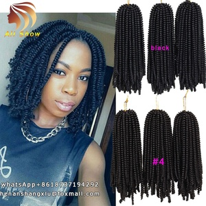 Spring Twist Crochet Braid Hair Extension 8inch Ombre Kinky Marley Twists Braiding Hair Bouncy Curly Hair Afro Kinky Twist