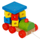 Hot Sale building blocks wooden pull train toy new design kids wooden toddler train toy