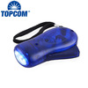 Colorful ABS 3 led hand pressing dynamo flashlight