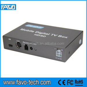 H.264 MPEG4 dvb-t hd car tuner with twin tuner