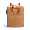 Korea stylish washable kraft paper backpack for college students;Hot selling recyclable portable innovative kraft backpack