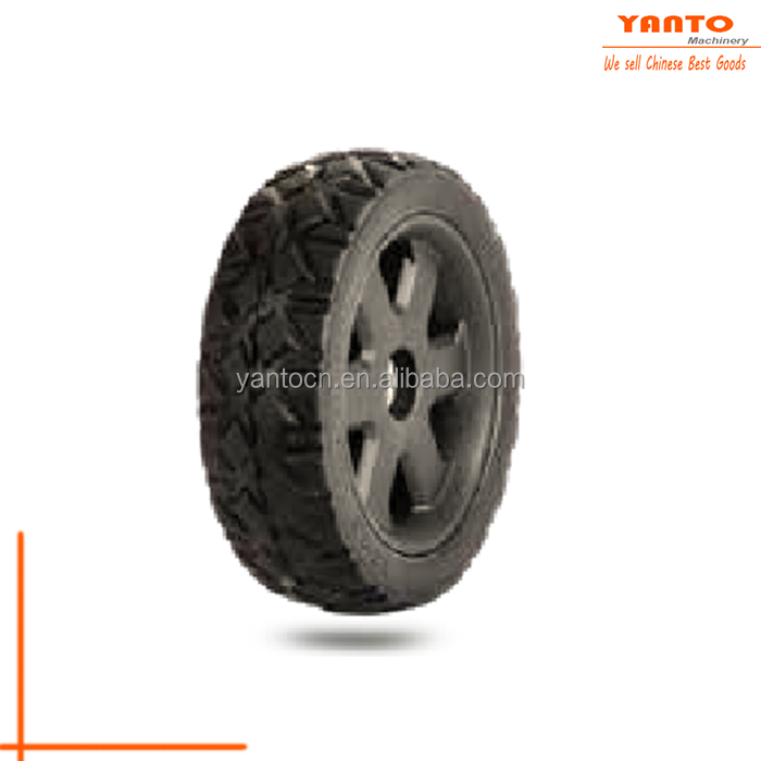 Yanto Hardware Semi-Pneumatic Rubber Replacement Tire Lawn Mower Rear Wheel Set