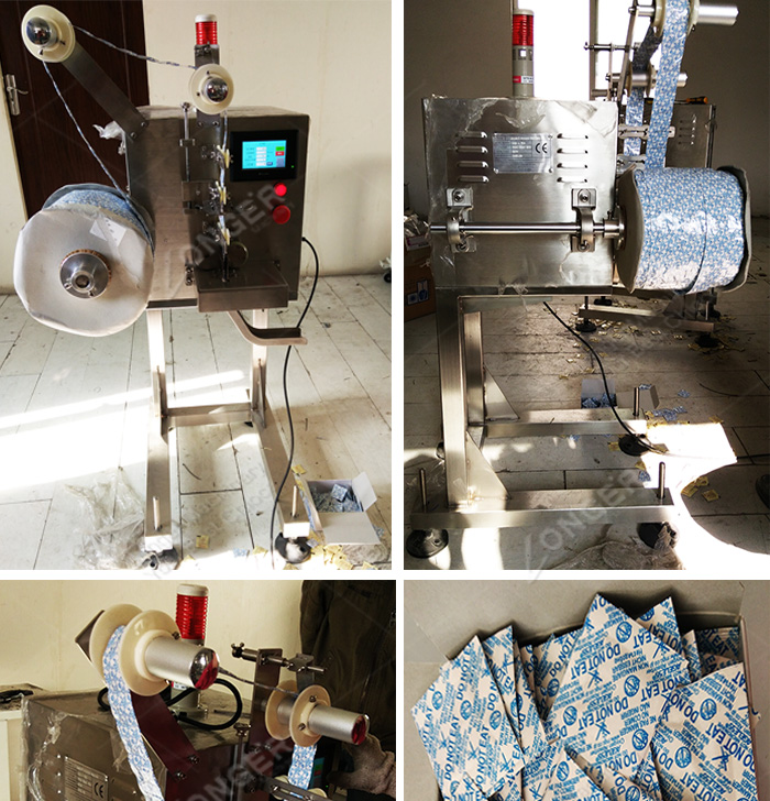 Professional Automatic Deoxidant Delivery Feeder Dispenser Machine Oxygen Absorber Packets Feeder Dexidant Sachet Dispenser