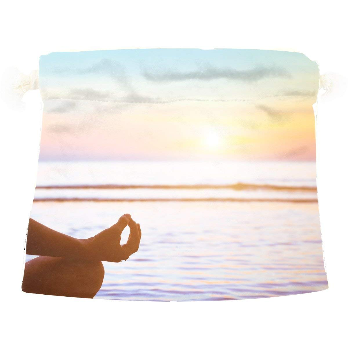 Sport Fitness Yoga Orange Dancing Sport Awesome Serene Female Cute Colorful Candy Gift Present Wrap Drawstring Bag