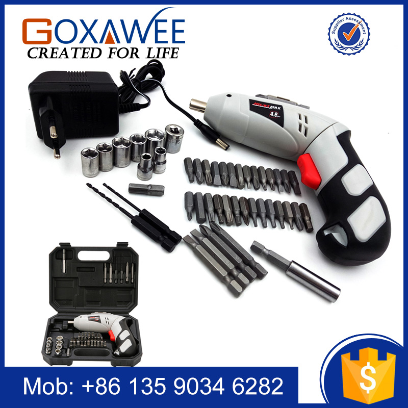 4.8V Multifunctional Household Repair Rotary Tool Set Electric Hammer Screwdriver Cordless <strong>Drill</strong>