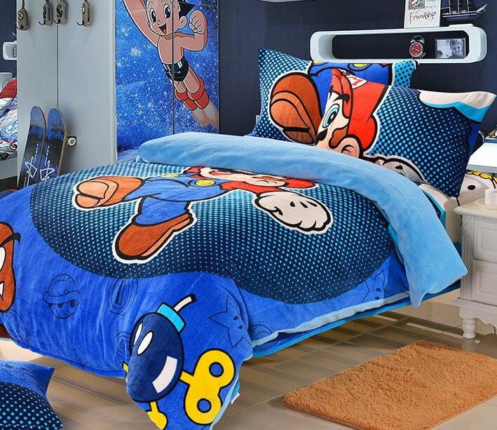 online kaufen gro handel super mario bettw sche set aus china super mario bettw sche set. Black Bedroom Furniture Sets. Home Design Ideas