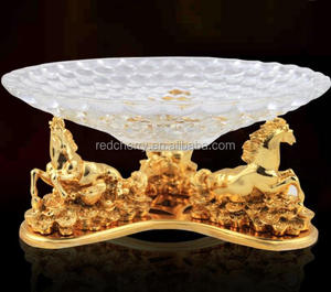 Resin electroplating horse compote European high-grade household hotel supplies KTV glass fruit bowl