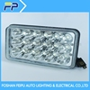 high quality 3x5 led head driving light H4 plug 5 inch square 45w led truck work light