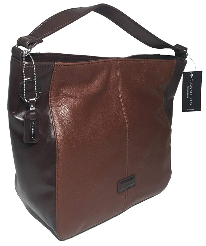 d627ac5ee8 Get Quotations · Tignanello Western Hobo Rust Dark Brown T58310A