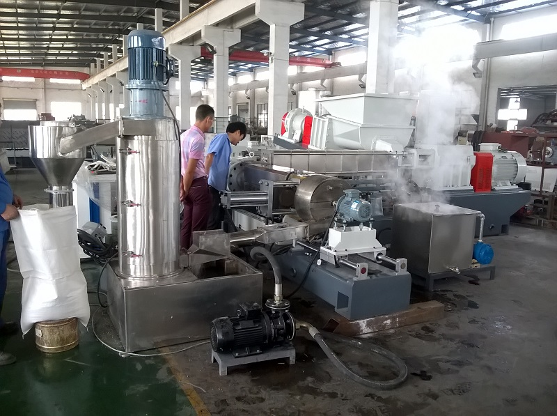 biodegradable plastic pellets compounding making extruder machine