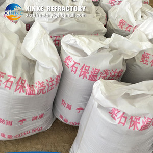 vermiculite refractory castable used in electric kiln for glass fusing,pottery annealing